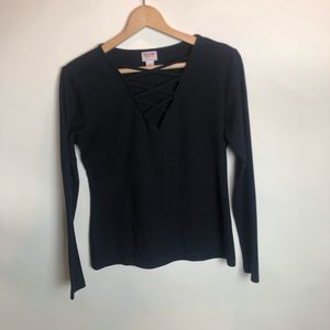COPY - Mossimo Supply Co Black Ribbed Top Lg